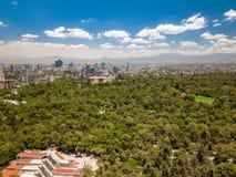 墨西哥城-查普特佩克城堡、WTC和Tamayo博物馆 库存图片