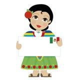 墨西哥女孩标志 免版税库存图片