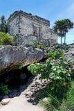 墨西哥寺庙tulum 库存照片