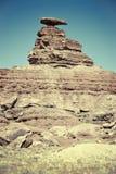 墨西哥帽岩层 库存图片