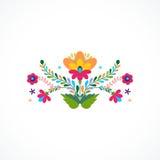 墨西哥开花装饰品 也corel凹道例证向量 库存图片