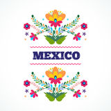 墨西哥开花装饰品 也corel凹道例证向量 免版税库存图片
