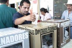 墨西哥投票 免版税库存照片