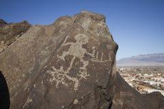 墨西哥新的刻在岩石上的文字 库存图片