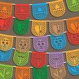 墨西哥旗布装饰 库存图片