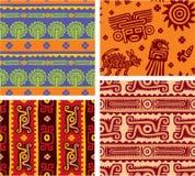 墨西哥无缝的集瓦片 图库摄影