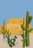 墨西哥村庄 免版税图库摄影