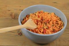 墨西哥样式煮熟的米 库存图片