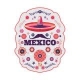 墨西哥样式,美丽的种族装饰品 库存照片