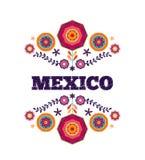 墨西哥样式,美丽的种族装饰品 库存图片