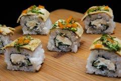 墨西哥梅基寿司用薄煎饼 库存照片
