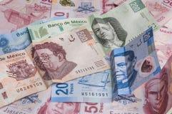 墨西哥比索减弱 库存图片