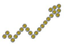 墨西哥比索硬币箭头 库存照片