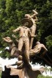 墨西哥流浪乐队雕塑 库存照片