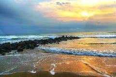 墨西哥海滩场面 免版税库存图片