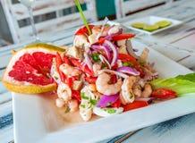 墨西哥海鲜ceviche 库存图片
