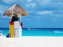 墨西哥海滩场面 库存照片