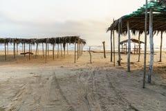 墨西哥海滩Palapa 免版税库存照片
