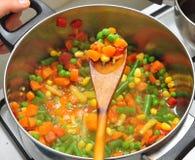 墨西哥混合蔬菜 免版税库存照片