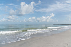 墨西哥湾的海岸在区域Clearwater,佛罗里达, 免版税库存照片