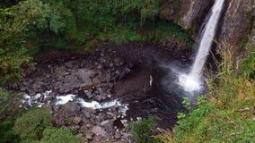 墨西哥瀑布xico 免版税库存图片