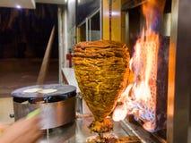 墨西哥炸玉米饼- Trompo de Pastor 免版税库存照片