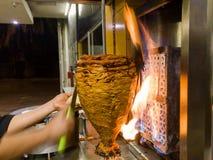 墨西哥炸玉米饼- Trompo de Pastor 免版税图库摄影