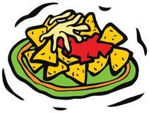 墨西哥烤干酪辣味玉米片用乳酪 库存例证