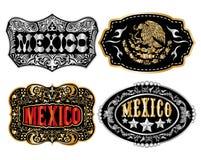 墨西哥牛仔皮带扣传染媒介 图库摄影
