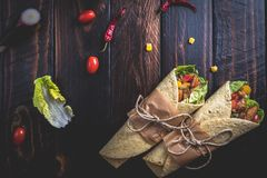 墨西哥玉米饼换行 免版税图库摄影