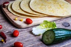 墨西哥玉米饼换行 库存照片