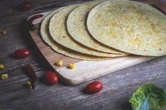 墨西哥玉米饼换行 免版税库存照片