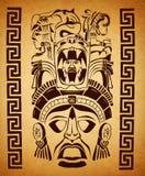 墨西哥玛雅主题-符号-纸纹理 库存图片