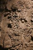 墨西哥瓦哈卡圣多明哥修道院博物馆阿兹台克人史特拉w国王 免版税库存图片