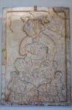 墨西哥瓦哈卡圣多明哥修道院博物馆阿兹台克人史特拉w国王 免版税图库摄影