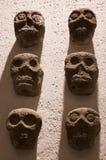 墨西哥瓦哈卡圣多明哥修道院博物馆阿兹台克短桨墙壁 免版税库存图片