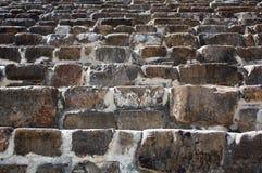 墨西哥瓦哈卡Monte奥尔本pyramide步纹理 免版税图库摄影