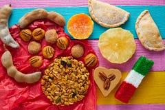 墨西哥甜点和酥皮点心cajeta罗望子果 库存图片