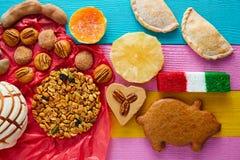 墨西哥甜点和酥皮点心cajeta罗望子果 免版税库存图片