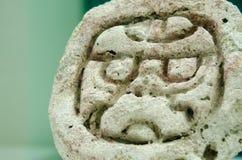 墨西哥的古老玛雅纵的沟纹 免版税库存照片