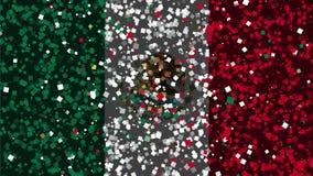 墨西哥的旗子庆祝的生气蓬勃的背景从烟花出现 皇族释放例证