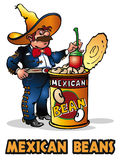 墨西哥的豆 库存图片