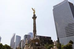墨西哥的,城市摩天大楼 库存图片