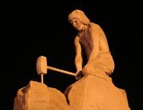 墨西哥矿工纪念碑zacatecas 免版税库存图片