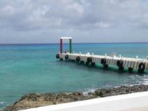 墨西哥码头海岸尤加坦 免版税库存照片