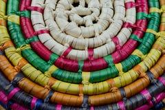 墨西哥秸杆篮子细节 免版税库存图片