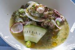墨西哥章鱼Ceviche 免版税图库摄影