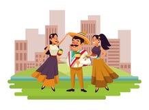 墨西哥美食和tradicional文化 库存例证