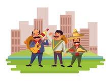 墨西哥美食和tradicional文化 向量例证