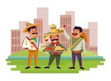 墨西哥美食和tradicional文化 皇族释放例证